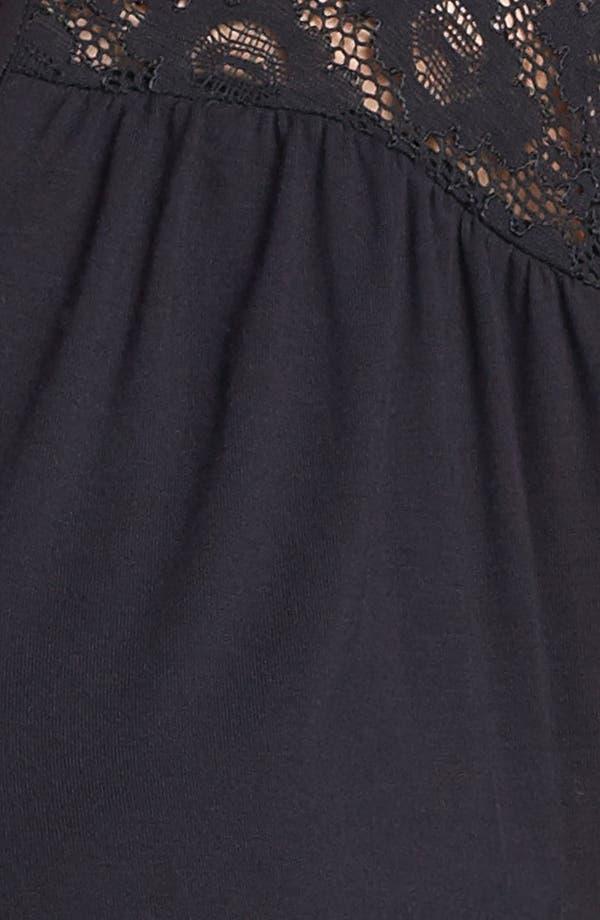 Alternate Image 3  - Sejour Lace Detail Knit Tee (Plus Size)