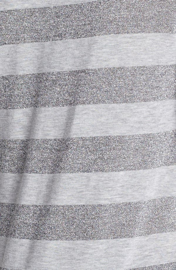 Alternate Image 3  - Two by Vince Camuto Metallic Stripe Tee