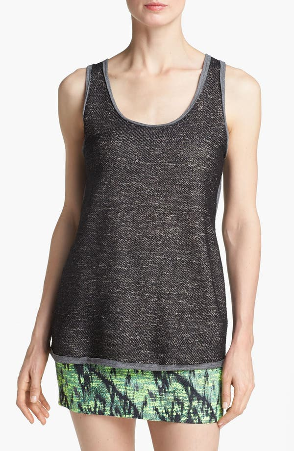 Alternate Image 1 Selected - Go Make Noise Mixed Knit Double Layer Tank