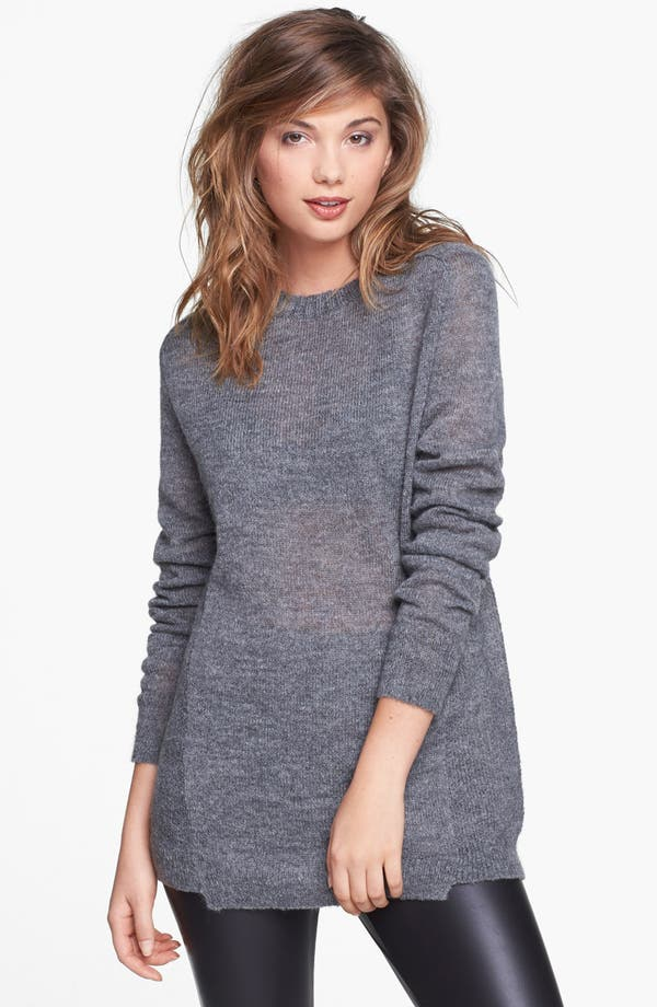 Main Image - Leith Heathered Uneven Hem Pullover