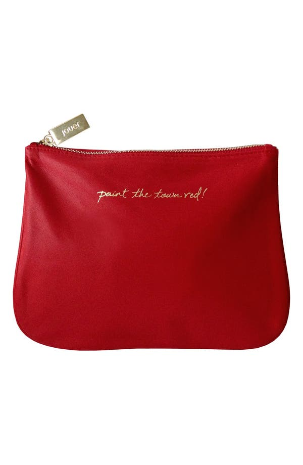 'IT - Paint the Town Red' Cosmetics Bag,                             Main thumbnail 1, color,                             No Color