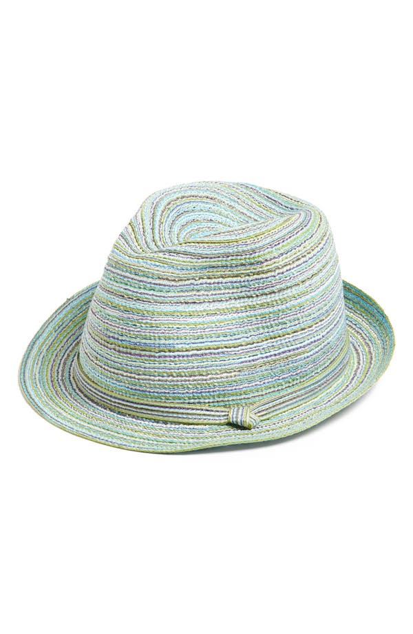 Alternate Image 1 Selected - Capelli of New York Straw Trilby (Girls)