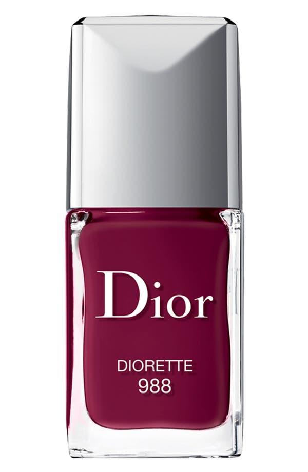 Vernis Gel Shine & Long Wear Nail Lacquer,                         Main,                         color, 988 Diorette