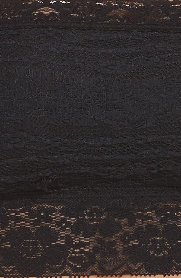 Intimately FP Lace Bandeau Bralette,                             Alternate thumbnail 4, color,                             Solid Black