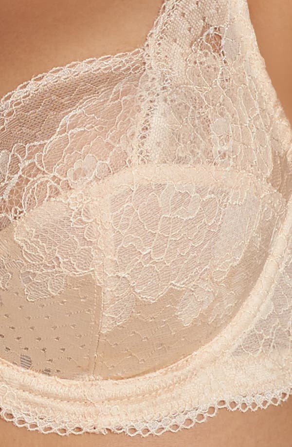'Clara' Underwire Full Cup Bra,                             Alternate thumbnail 4, color,                             Nude