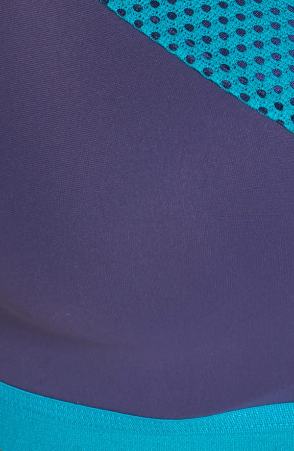 Zip Front Underwire Sports Bra,                             Alternate thumbnail 7, color,                             Astral Aura/ Tile Blue