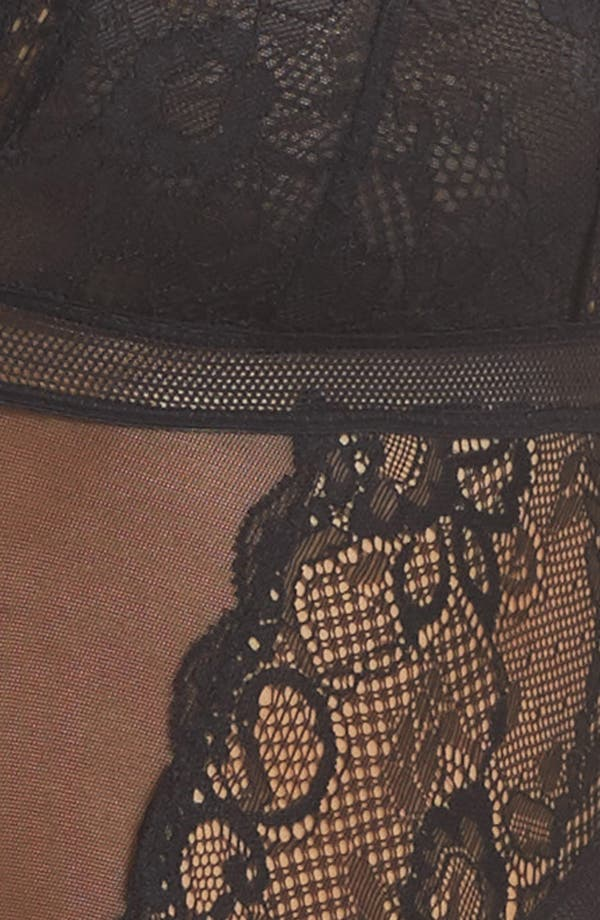 Alternate Image 6  - Sam Edelman Mixed Lace Bodysuit