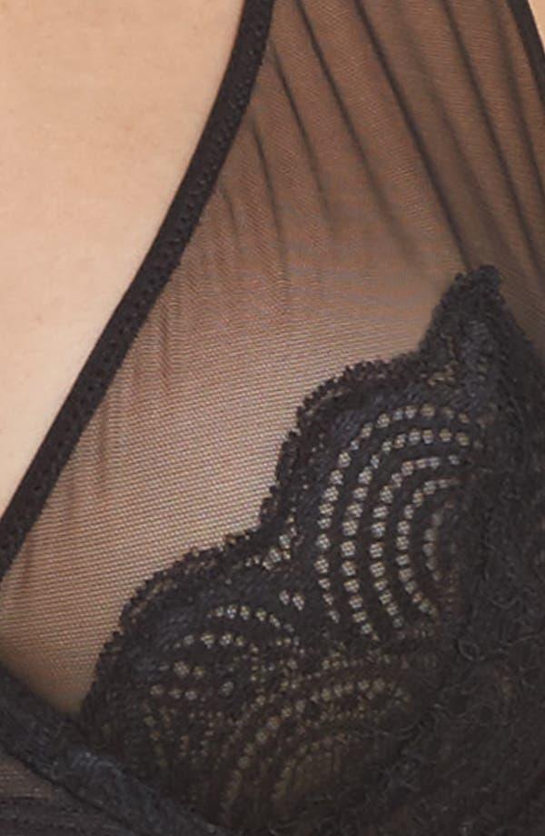 Underwire Lace Plunge Bra,                             Alternate thumbnail 8, color,                             Black