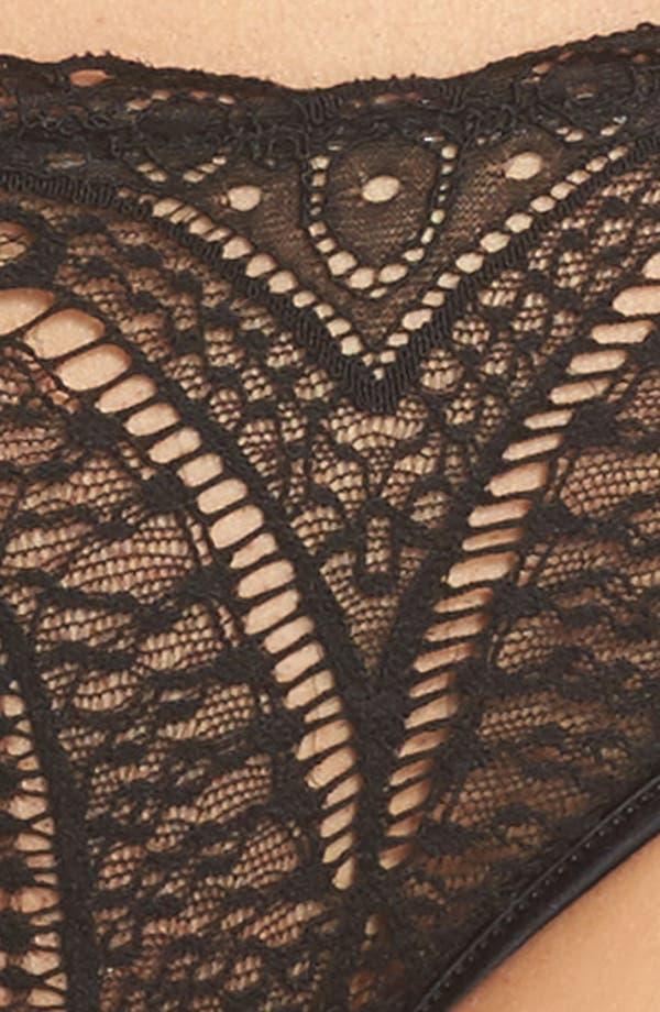 Black Audacious Lace Bikini,                             Alternate thumbnail 5, color,                             Black
