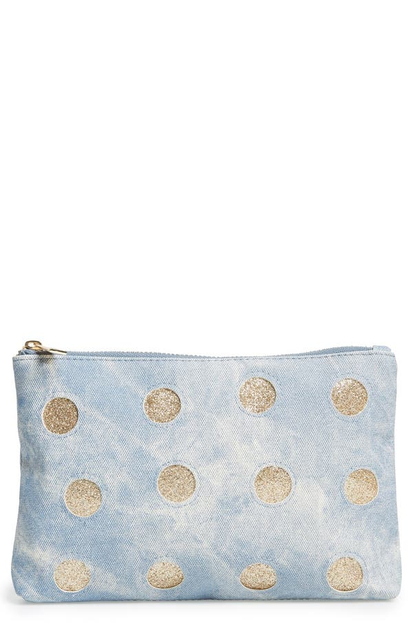 Main Image - BP. Metallic Dot Cosmetic Pouch
