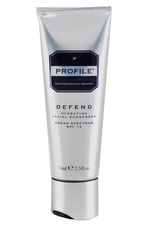 'Defend' Hydrating Facial Sunscreen Broad Spectrum SPF 15,                         Main,                         color, No Color