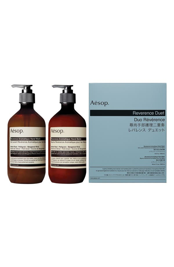 Alternate Image 1 Selected - Aesop Reverence Hand Wash & Hand Balm Duet