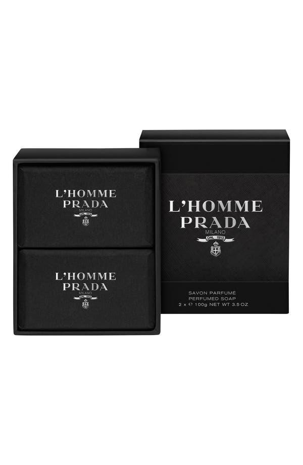 'L'Homme Prada' Perfumed Soap,                             Main thumbnail 1, color,                             No Color