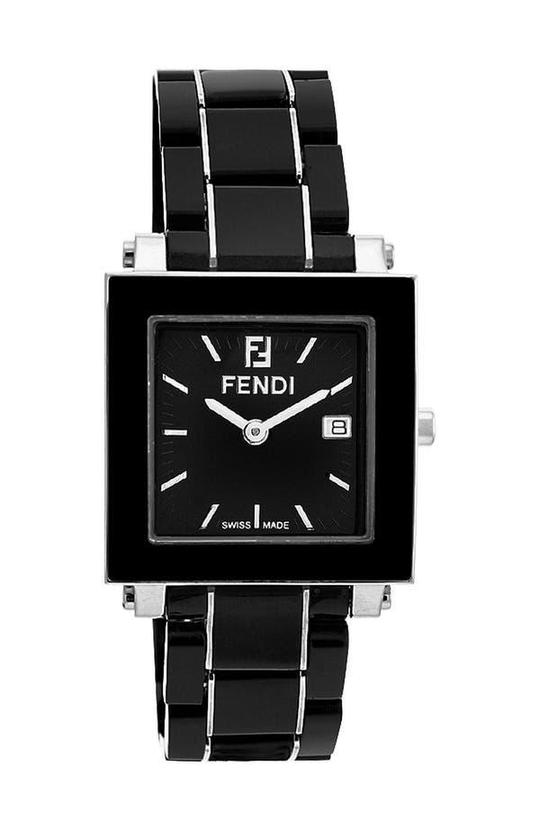 Alternate Image 1 Selected - Fendi Large Square Ceramic Bracelet Watch, 30mm