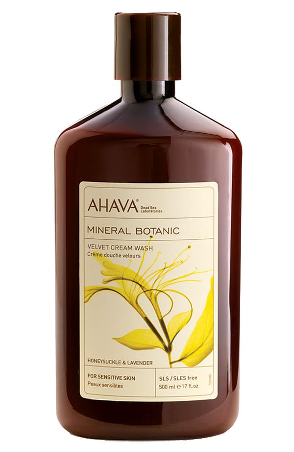 Main Image - AHAVA 'Honeysuckle & Lavender' Mineral Botanic Velvet Cream Wash for Sensitive Skin
