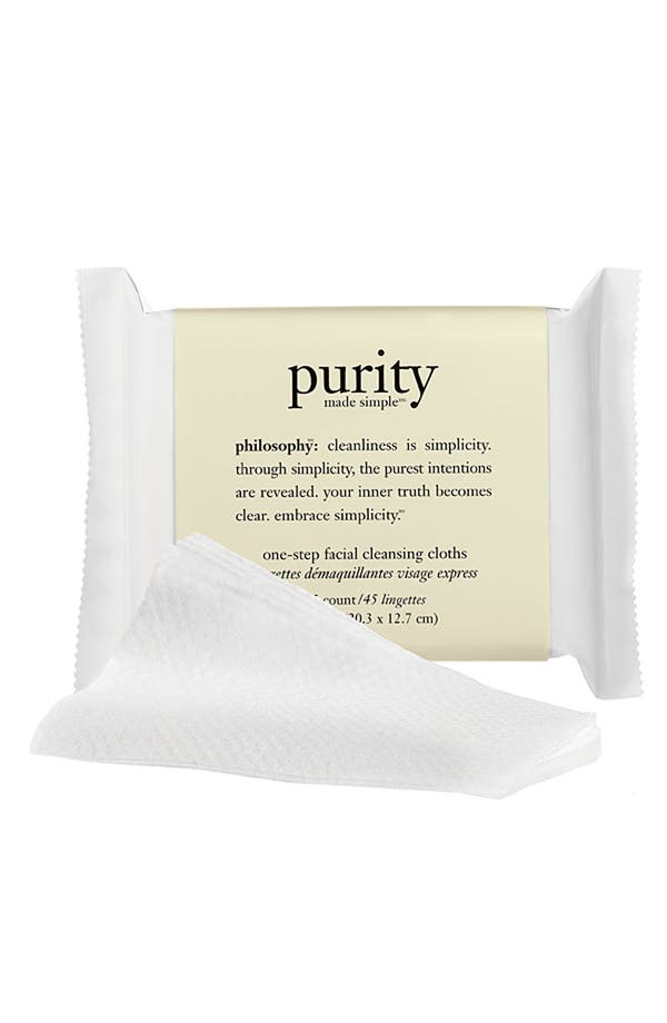 Alternate Image 1 Selected - philosophy 'purity made simple' one-step facial cleansing cloths