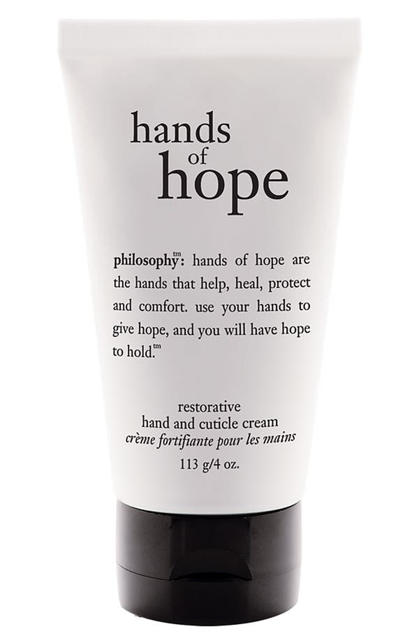 'hands of hope' hand & cuticle cream,                             Main thumbnail 1, color,