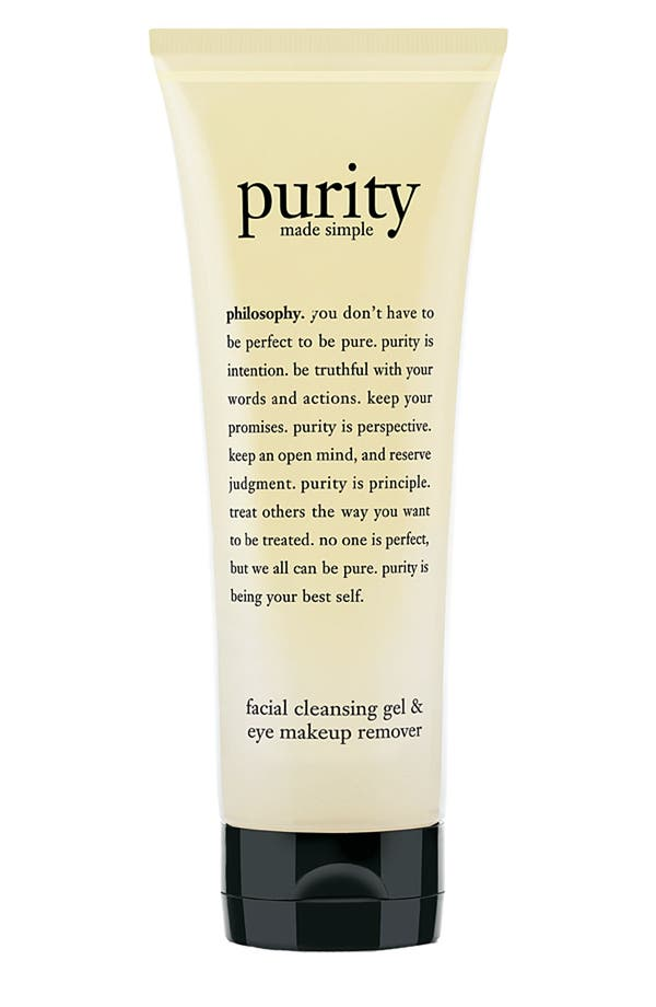 'purity made simple' facial cleansing gel & eye makeup remover,                         Main,                         color,