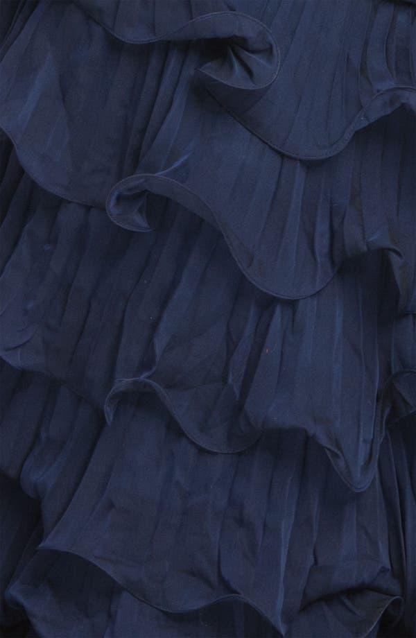 Alternate Image 3  - Dalia MacPhee Strapless Ruffle Chiffon Gown (Juniors Plus)