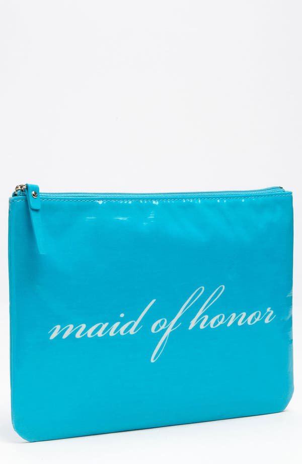 Alternate Image 1 Selected - kate spade new york 'wedding belles - gia' cosmetics pouch