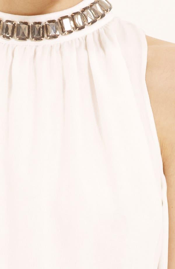 Alternate Image 3  - Moschino Cheap & Chic Jewel Neck Silk Chiffon Blouse