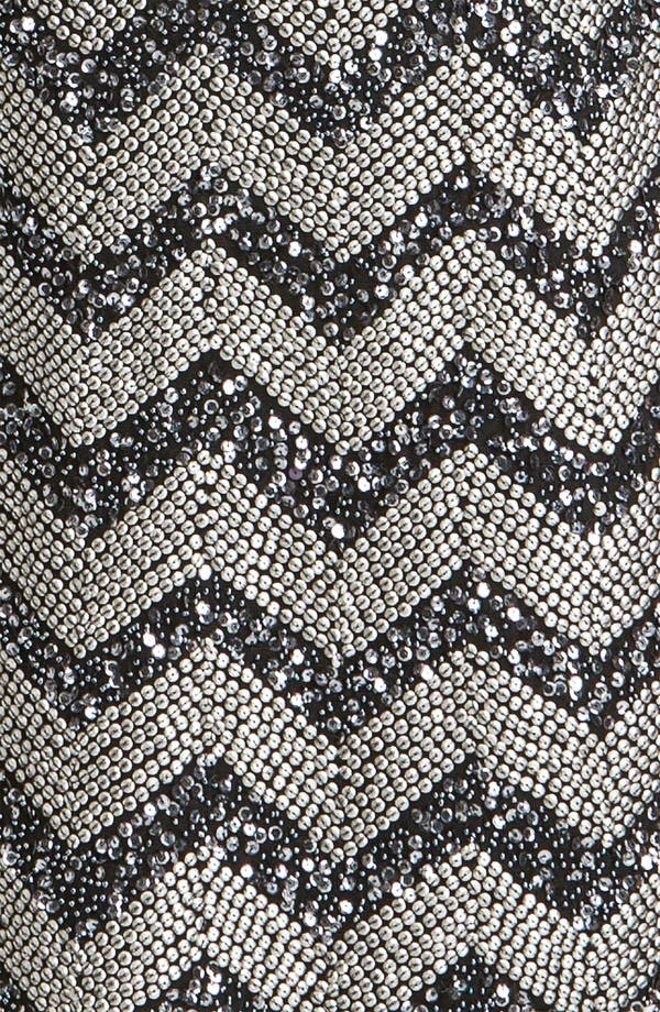 Alternate Image 3  - Guilia Sequin Chevron Shift Dress
