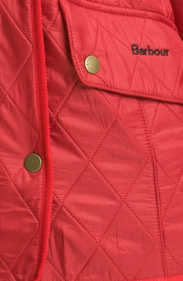 'Cavalry' Quilted Jacket,                             Alternate thumbnail 3, color,                             Red
