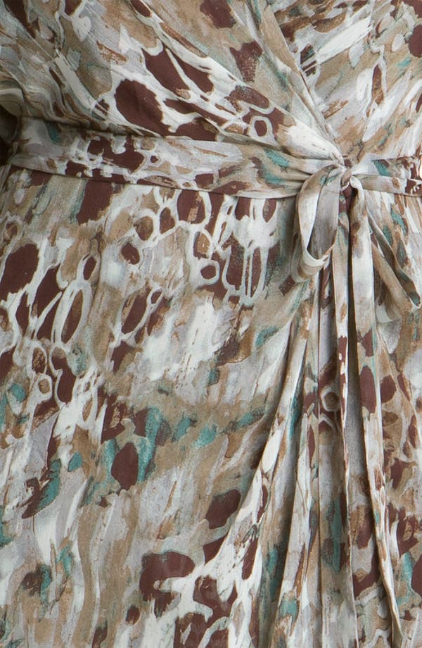 Alternate Image 3  - Adrianna Papell Print Faux Wrap Chiffon Dress (Plus)
