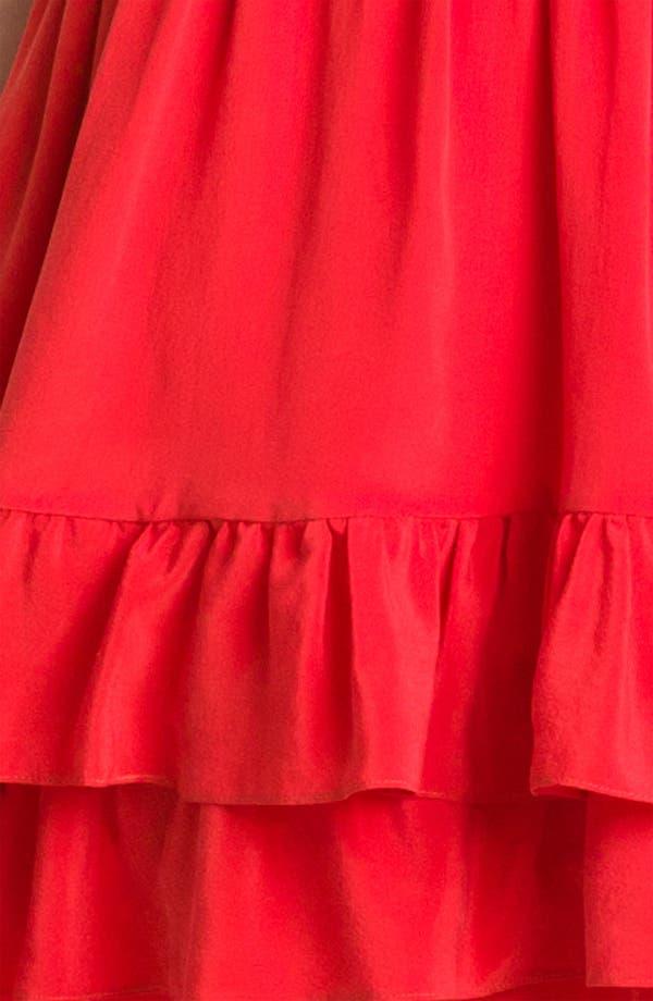 Alternate Image 3  - Line & Dot Tiered Ruffle Silk Dress
