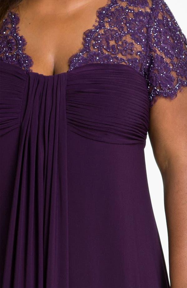 Alternate Image 3  - JS Boutique Beaded Lace & Jersey Dress (Plus)