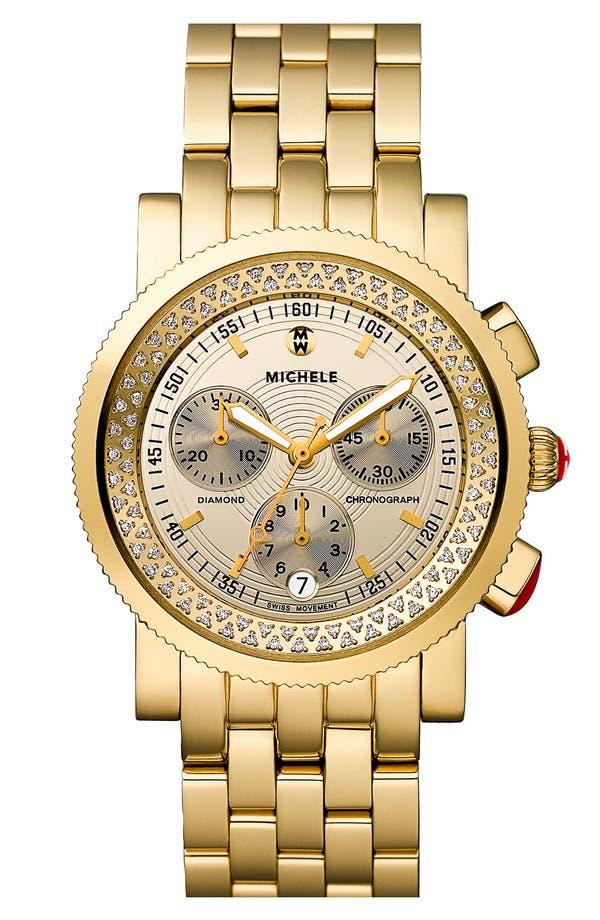 Alternate Image 1 Selected - MICHELE 'Sport Sail' High Shine Customizable Watch