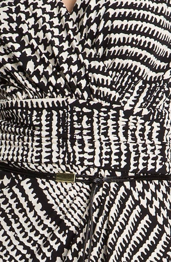 Alternate Image 3  - Tahari Houndstooth Belted Jersey Dress