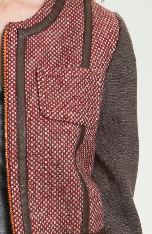 Alternate Image 3  - Hinge® Knit Sleeve Tweed Jacket