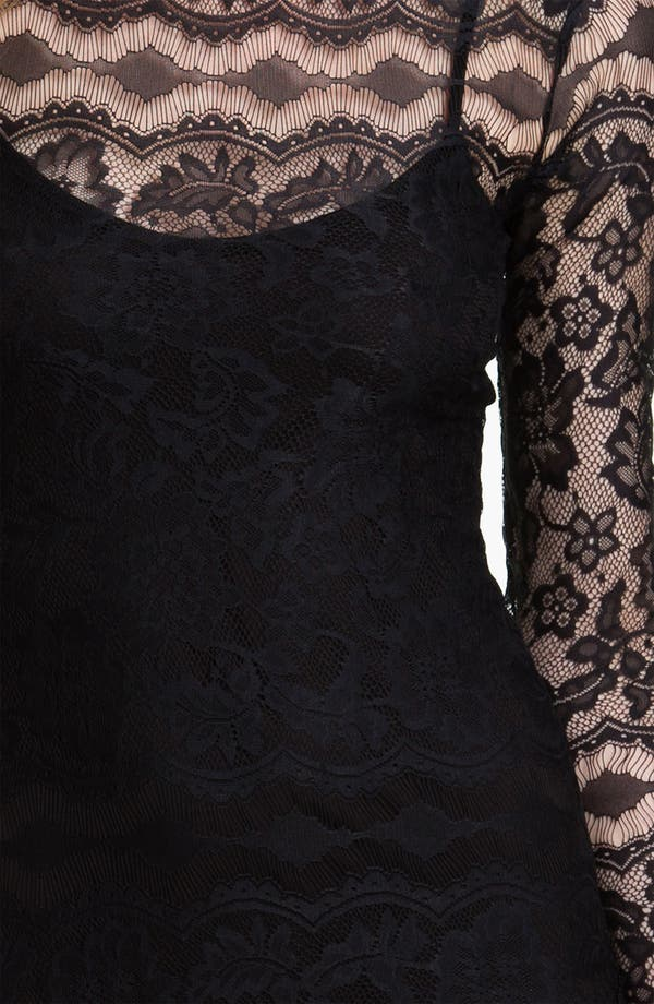 Lace Dress,                             Alternate thumbnail 3, color,                             Black