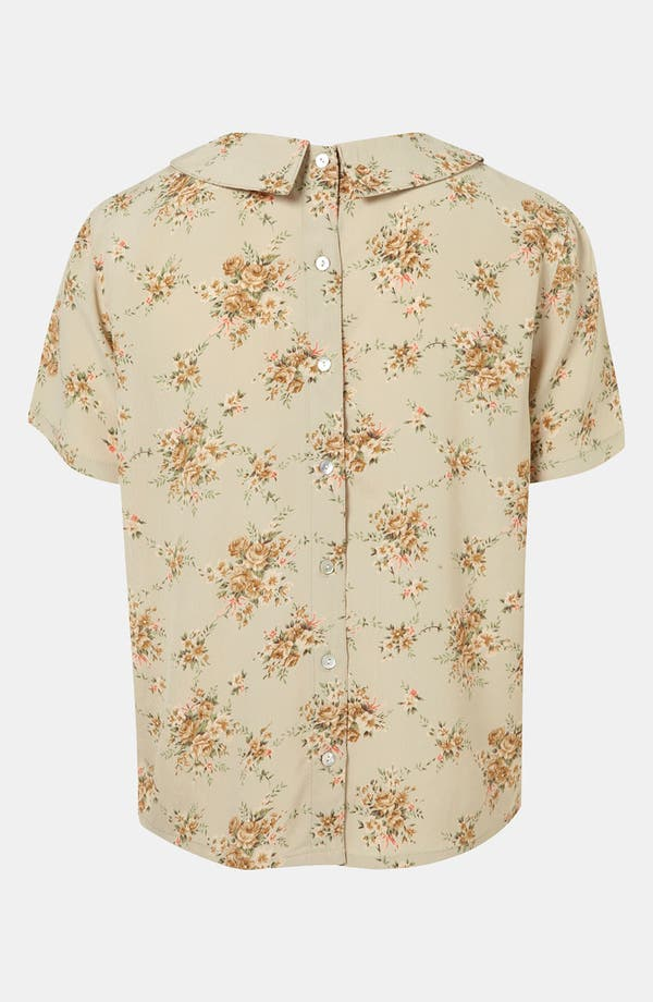 Alternate Image 2  - Topshop Floral Pintuck Shirt