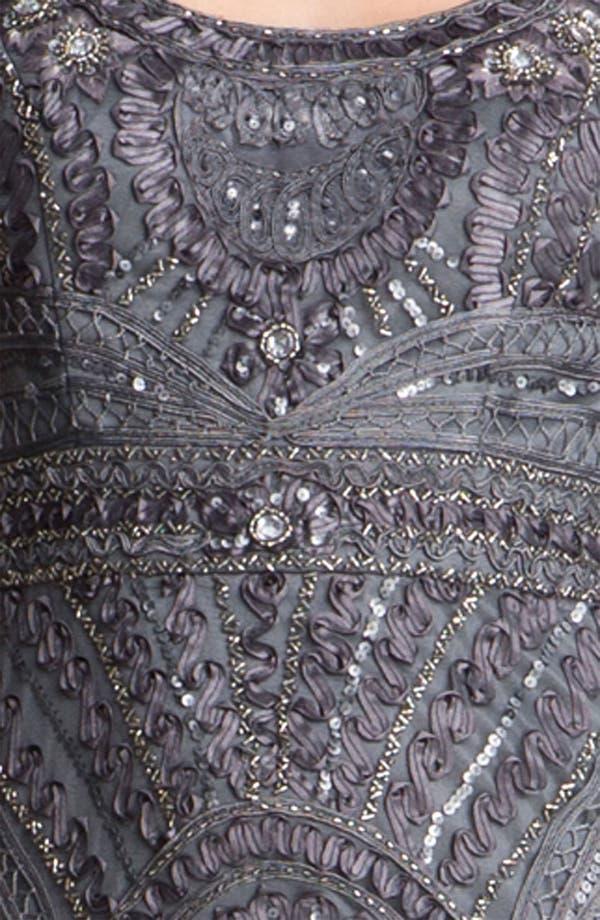 Alternate Image 3  - Sue Wong Cap Sleeve Embroidered Tulle Sheath Dress