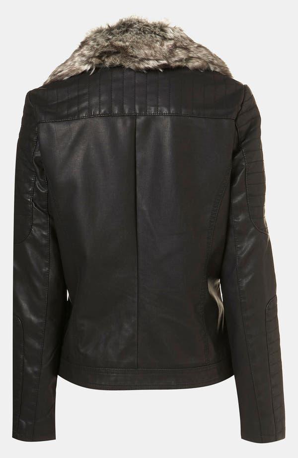 Alternate Image 3  - Topshop 'Maddox' Faux Leather Maternity Jacket