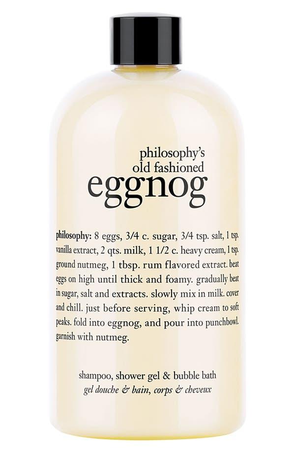 Alternate Image 1 Selected - philosophy 'old fashioned eggnog' shampoo, shower gel & bubble bath
