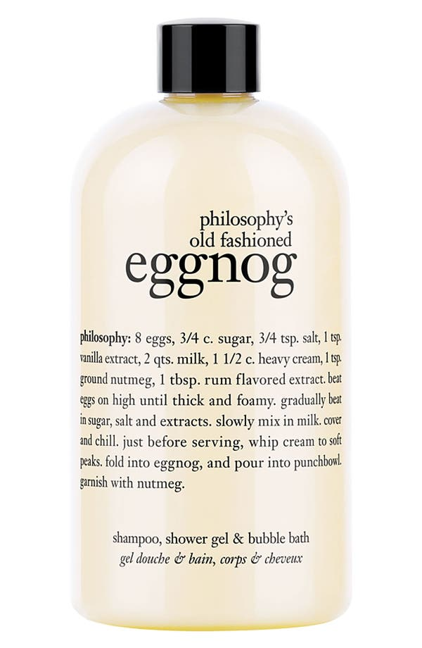 Main Image - philosophy 'old fashioned eggnog' shampoo, shower gel & bubble bath