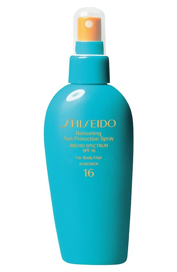 Alternate Image 1 Selected - Shiseido Refreshing Sun Protection Spray for Body & Hair Broad Spectrum SPF 16