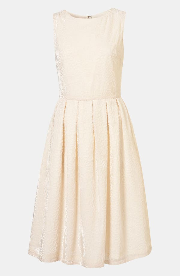 Alternate Image 1 Selected - Topshop 'Devore' Burnout Silk Dress