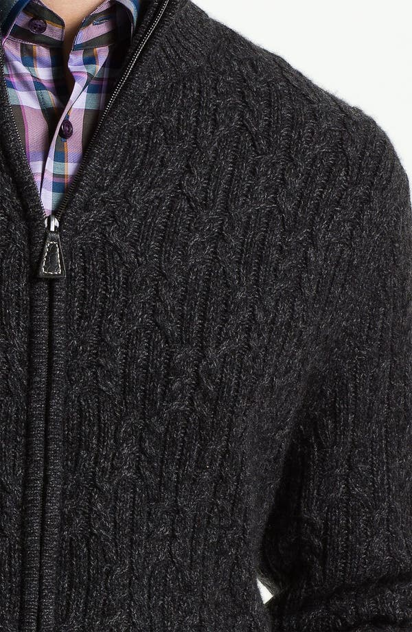 Alternate Image 3  - John W. Nordstrom® Cable Knit Cashmere Cardigan