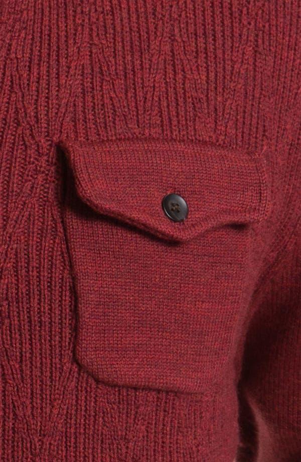 Alternate Image 3  - Cutter & Buck 'Brandywine' Argyle Textured Merino Wool Sweater (Big & Tall)
