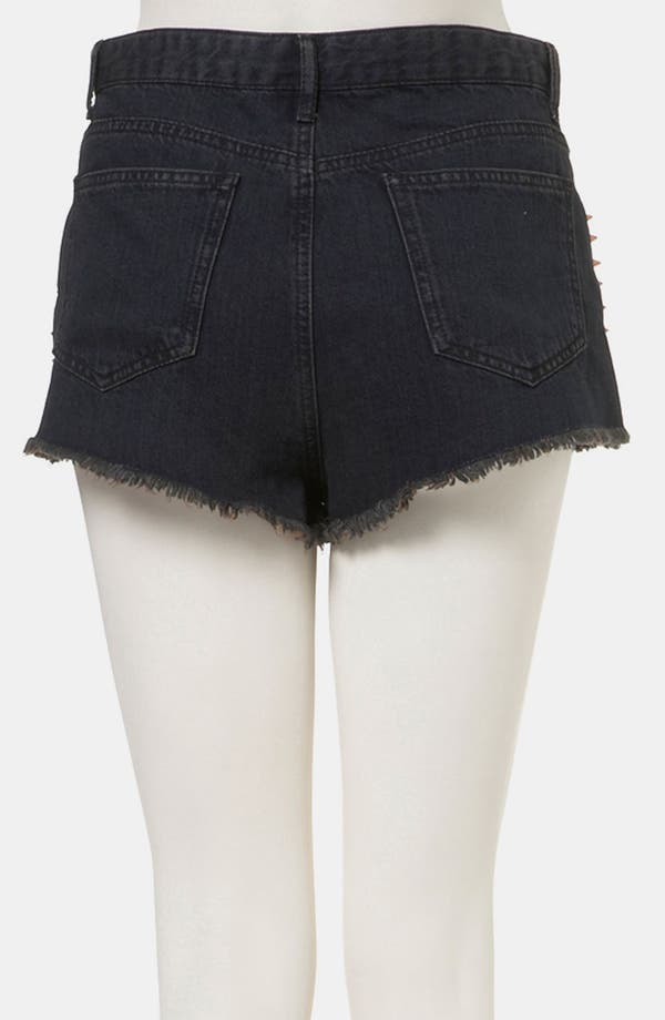 Alternate Image 2  - Topshop 'Holly' Studded Denim Hot Pants