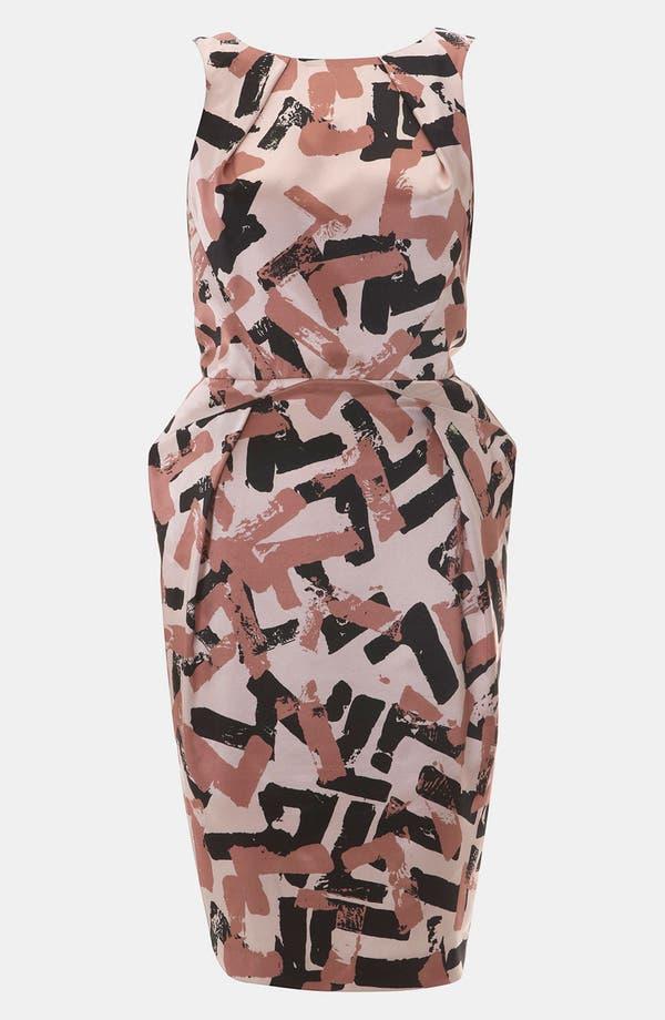 Main Image - Topshop Pop Art Print Origami Dress