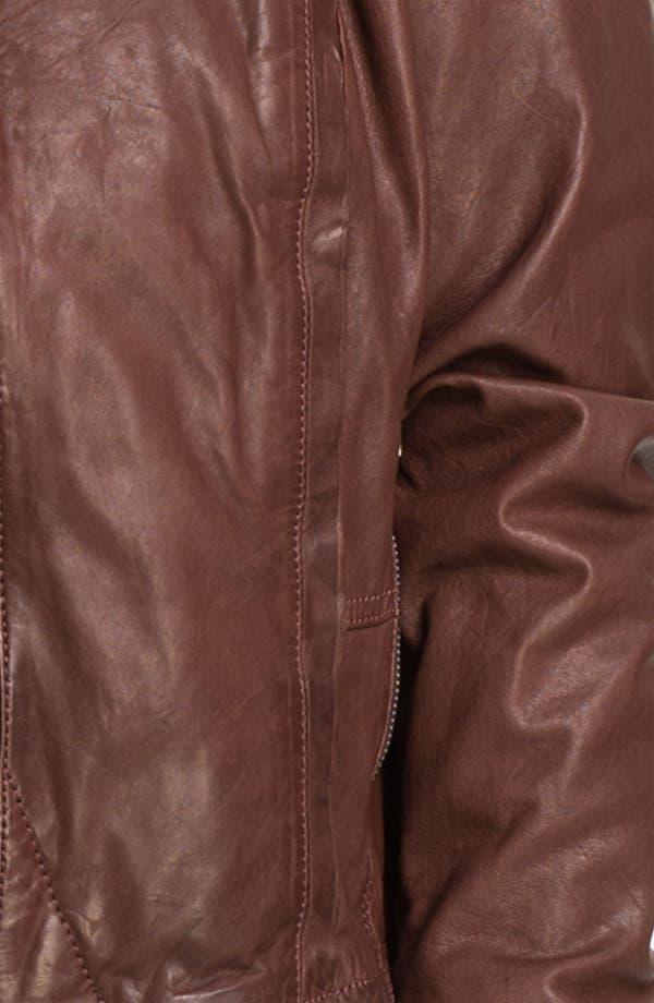 Alternate Image 3  - Bernardo Knit Cuff Leather Jacket (Plus)