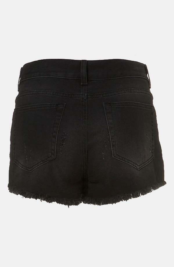 Alternate Image 2  - Topshop Moto 'Cross' Embellished Denim Shorts