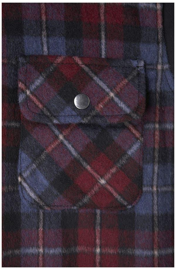 Alternate Image 3  - Topshop Plaid Hooded Jacket