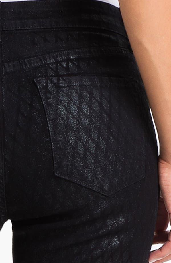 Alternate Image 3  - NYDJ 'Sheri' Geometric Glitter Coated Skinny Stretch Jeans
