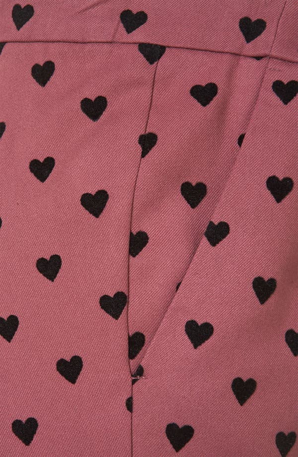 Alternate Image 4  - Topshop Flocked Heart Maternity Trousers